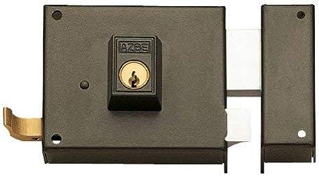 124 // Derecha Hierro Pintado 140 mm Yale Cerradura de Sobreponer Est/ándar 124140DHP