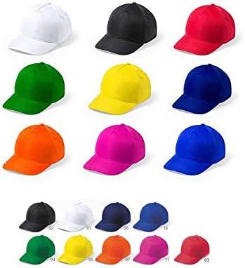 DISOK Lote de 20 Gorras Microfibra/Poliéster. Gorras de Colores ...