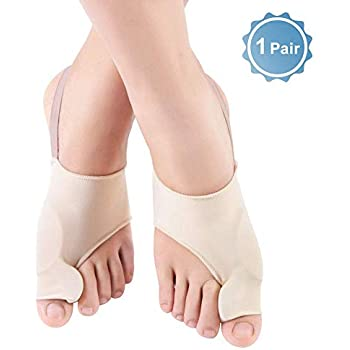 Bunion Corrector Toe Straightener, Orthopedic Bunion Splint Protectors for Day and Night Time, Toe Separators Foot Support Sleeve with Gel Pad, ...