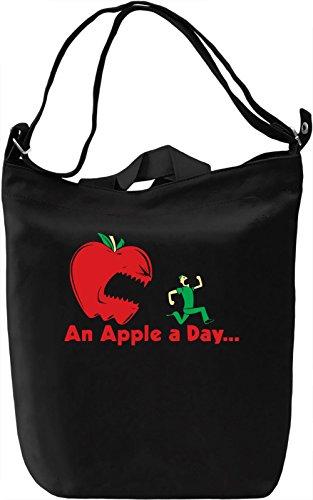 An Apple A Day Borsa Giornaliera Canvas Canvas Day Bag| 100% Premium Cotton Canvas| DTG Printing|