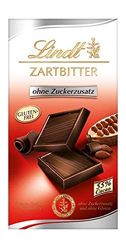 Lindt bittersweet chocolate without added sugar (4 x 100 g) - Lindt Bittersweet Chocolate