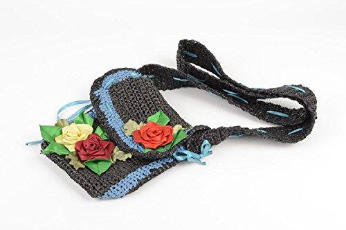 Bolso de moda artesanal accesorio para nina decorado con cintas regalo original