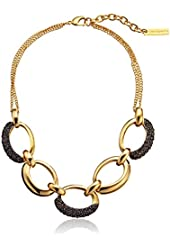 """Vince Camuto Large Pave Frontal Link Chain Necklace, 18"""""""