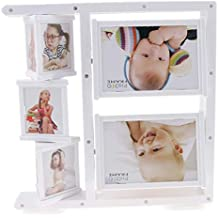 Fenteer Rotating Baby Boy Girl Newborn Picture Photo Frame for Photograph Table Decoration