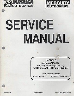 1999 MARINER/MERCURY 9.9/15(4-STROKE) BIGFOOT OUTBOARD SERVICE MANUAL (510)
