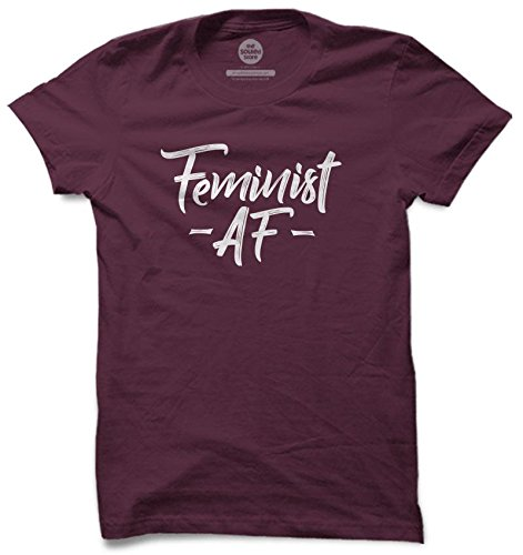 a6850f606 The Souled Store Feminist AF T-Shirt S Girly Cotton T-Shirt for Men Women  and Girls: Amazon.in: Clothing & Accessories