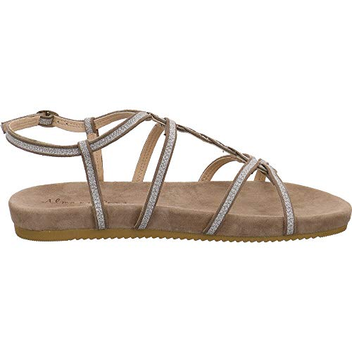 Taupe V18468 Alma Pena Scamosciata Fabric For En Sandals Brown Dress Woman wIOOqr1xE