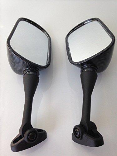 HTT Group Motorcycle Carbon Fiber Racing Mirror For 1999-2006 Honda CBR 600 F4 F4i CBR600RR/2000-2006 Honda RC51 RVT1000R/2002-2003 Honda CBR954RR (Rc51 Carbon Fiber)