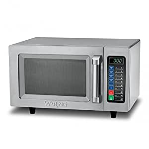 Waring Commercial WMO90 Medium Duty 0.9 cu. ft. Commercial Microwave, Steel