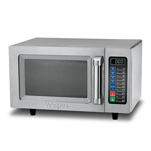 Waring Commercial WMO90 Medium Duty 0.9 cu. ft. Commercial Microwave, Steel by Waring