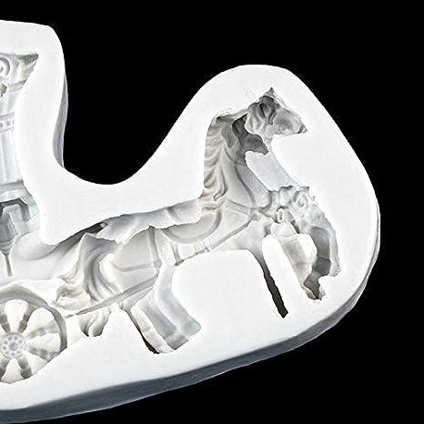 Amazon.com: 1 piece 3D Wedding Horse Princess Carriage Fondant Cake Silicone Mold Cake Decorating Tools Chocolate Kitchen Accessories Baking: Kitchen & ...