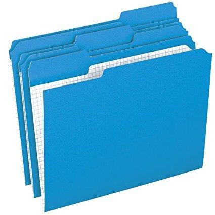 Pendaflex 1/3 Cut Reinforced-Top File Folders, 100 per Box (PFXR15213BLU) 2-Pack Blue