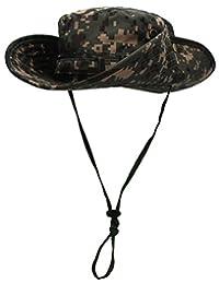 ESEL Men's Camouflage Sun Hat Waterproof Sun Protection Ruffle Brim Bucket Cap