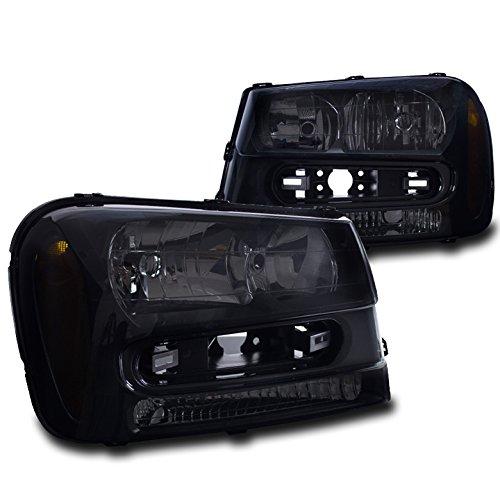 ZMAUTOPARTS Chevy Trailblazer Crystal Style Headlights Black/Smoke (Trailblazer Crystal)