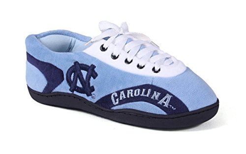 NCU05-3 - North Carolina Tar Heels - Large - Happy Feet Mens and Womens All Around Slippers