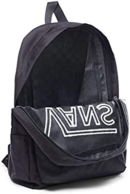 ba5c0c0252b40 Vans New Skool Backpack for Kids, Black (VA2TL): Amazon.ae