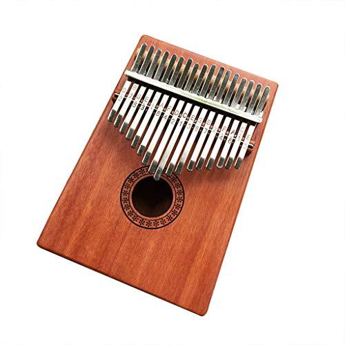 vmree 17 Keys Kalimba, International Standard C Tune Thumb Piano Portable Travel Moving Music Box Africa National Instrument Mbira Sanza Mahogany Body Ore Metal Tines - Ideal Gift (A)