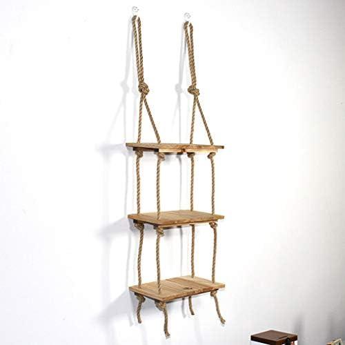 陳列棚は 壁掛け多機能吊り木製収納ディスプレイスタンド壁掛け棚リビングルーム、スタディルーム. AFQHJ (Color : Wood color)