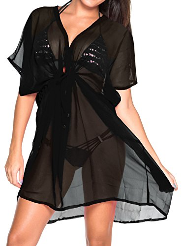 Women Beach Wear Bikini Swimsuit Swimwear Chiffon Cover Up Caftan Black Olive Valentines Day Gifts 2017