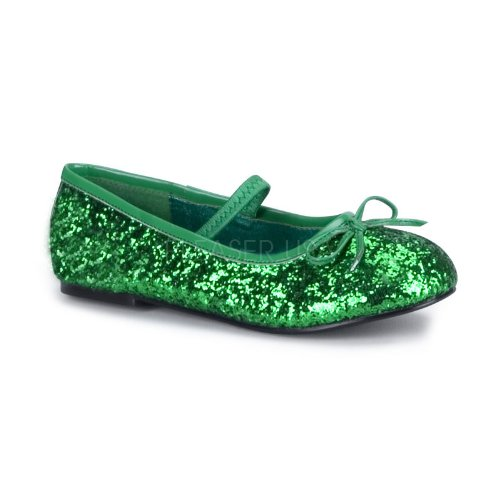 Funtasma Girl's Star 16GC Mary Jane Flats,Green,X-Large (Tinker Bell Shoes)
