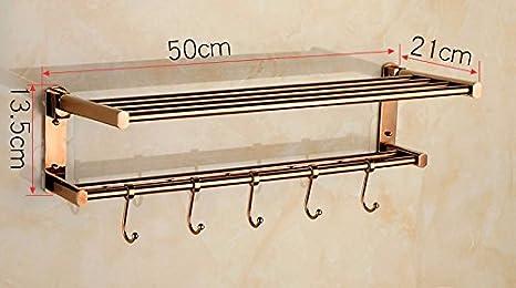 GBHNJ Rack De Toallas De Baño Plegable Color Oro Rosa 50 * 13,5 * 21: Amazon.es: Hogar