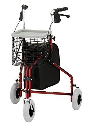 Nova Ortho-Med WALKER TRAVELER 3-WHEEL - 4900RDEA - Red ,...