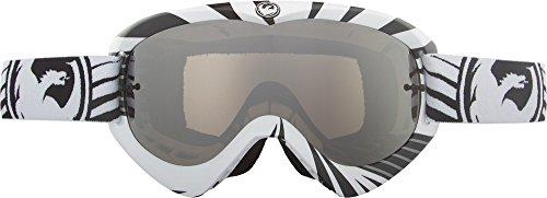 Dragon Alliance MDX Ionized Vox Black-White Goggles with Ionized Lenses