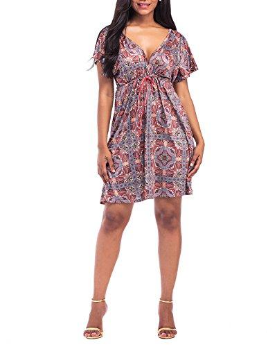 Checkerboard Print Dress - 8