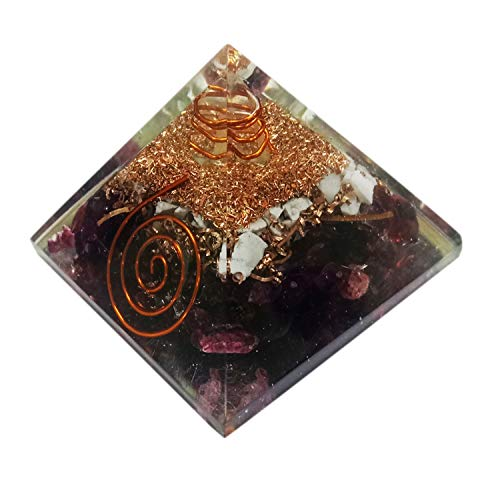 Orgone Pyramid Large Garnet Crystal Energy Generator EMF Protection Meditation Healing ()