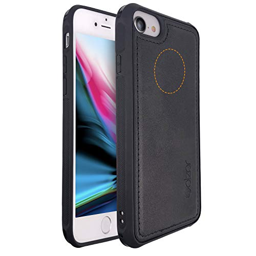 Molzar MAG Series iPhone 8/7/6s/6 Case, Built-in Metal Plate for Magnetic Car Phone Holder, Support Qi Wireless Charging, Compatible with Apple iPhone 8/7/6s/6, Black