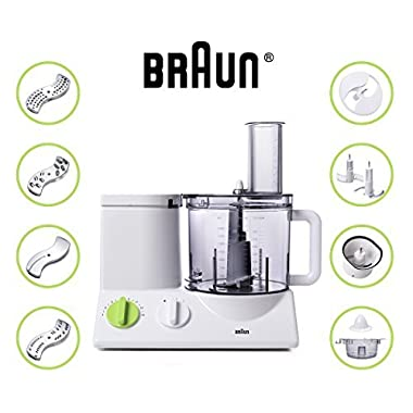 Braun FP3020 Food Processor with 7 Attachment Blades, Chopper and Citrus Juicer