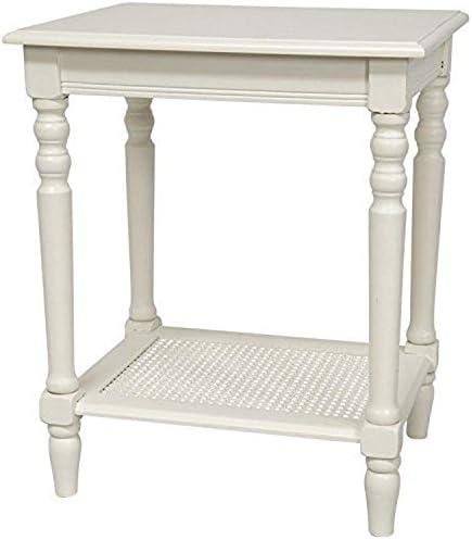 Oriental Furniture 23 Classic Design Side Table – White