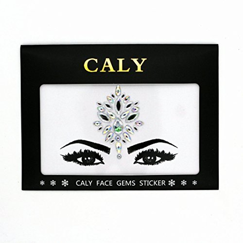 CALY CA-1027 Dance Performance Face Jewels Gem Stickers Bindi Body Jewelry Adhesive Sheets -