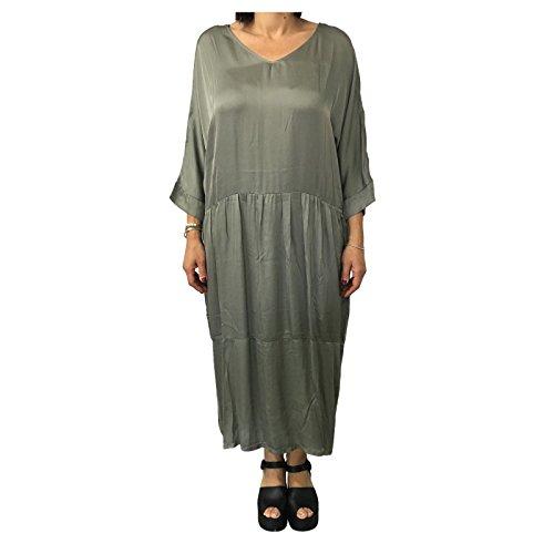 1949 abito verde ITALY MADE mod grigio donna HUMILITY viscosa 100 IN HA6105 6RdwBqRW