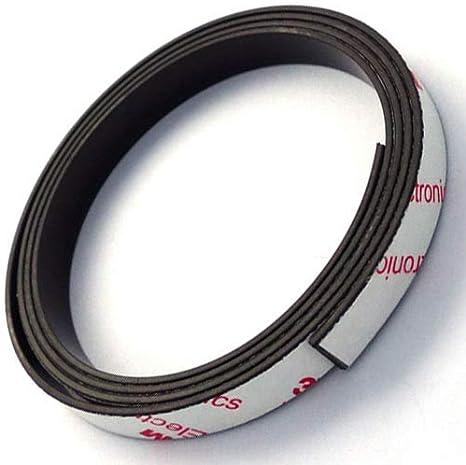 1M Starkes Magnetband selbstklebend mit Industrie-Klebeband Kleberücken hält Neu