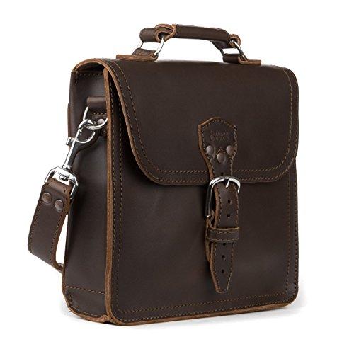 New York Slim Briefcase - Saddleback Leather Co. Indiana Messenger Gear Bag Full Grain Leather Slim Satchel for Men Includes 100 Year Warranty.