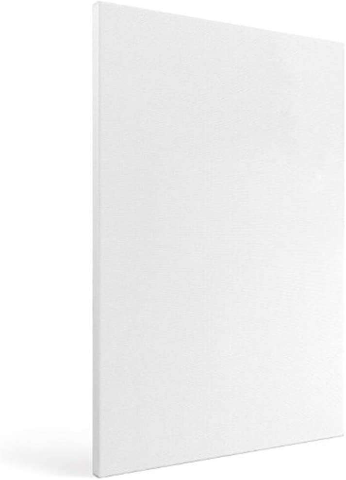Milisten 8pcs Canvas Panel Boards for Painting Drawing Home Decorations White