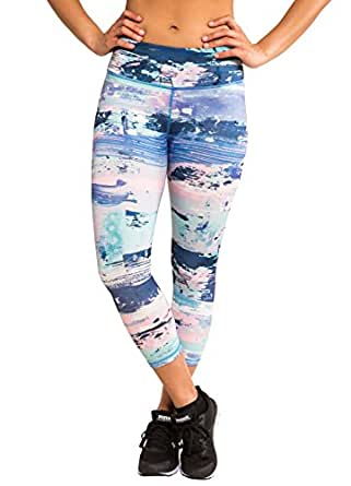 RBX Active Women's Dream Scene Printed Capri Blue Combo S