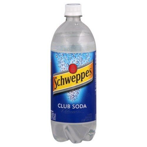 (Schweppes Club Soda 1 Liter, 4 Pack by Schweppes)