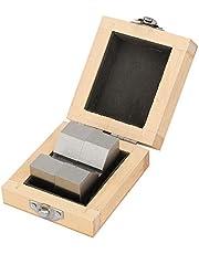 V Blocks, High Accuracy Carbon Steel M Type V-Block 50mm for Platform Measurement AL1081 2Pcs