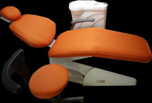 1 Set Dental Chair Unit Cover Dentist Stool Sleeves Elastic Washable Headrest Backrest Protector ORANGE Color Promotion by AnHou