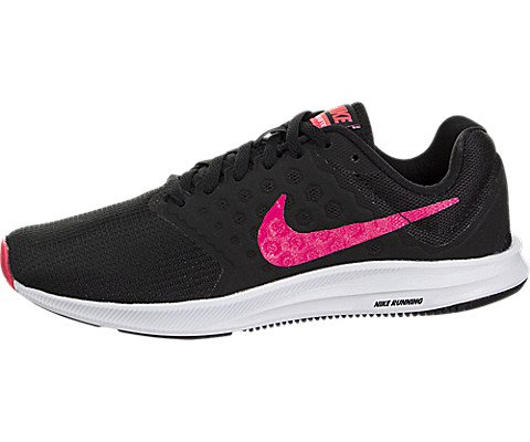 76f12039c5e50e Galleon - NIKE Womens Wmns Downshifter 7 Black Racer Pink White Size 8