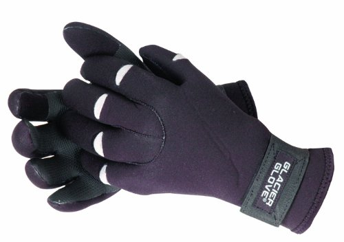 Glacier Outdoor Premium Neoprene Shooting Glove (Black/Gray) 823BK