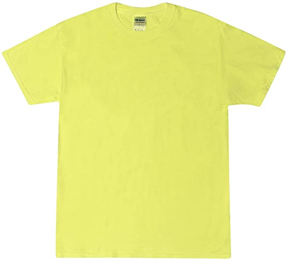 5f2ab6ea2 A&E Designs Neon YELLOW Bright Colorful Youth Kids Tee Shirt T-Shirt, Kids X