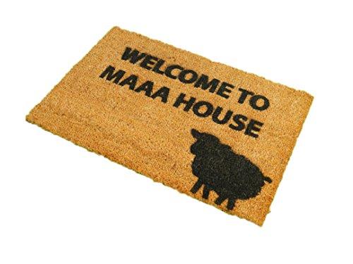 CKB Ltd Welcome to Maaa House Novelty Doormat Unique Doormats Front/Back Door Mats Made with A Non-Slip PVC Backing - Natural Coir - Indoor & Outdoor