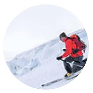 alfombrilla de ratón telemark estilo elegante de descenso - ronda - 20cm