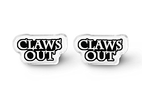Claws Out Earrings - Punk Rock, Cat Earrings, Pastel Goth, Aesthetic, Everyday Goth, Soft - Soft Studs Claw