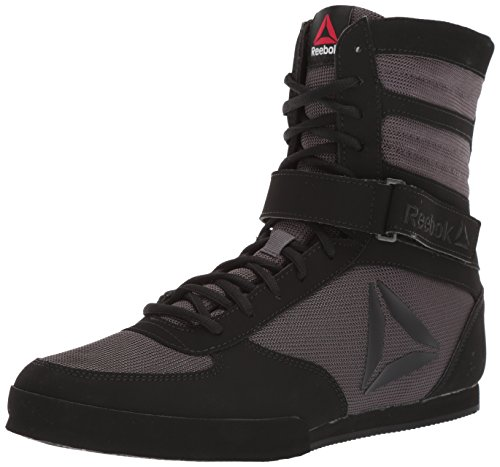 Reebok Men's Boxing Boot-Buck Cross Trainer, Black/ash Grey, 10 M US (Best Shoes For Boxing Fitness)
