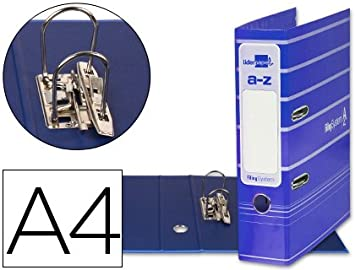 5 ARCHIVADORES DE PALANCA LIDERPAPEL A4 FILING SYSTEM AZULES