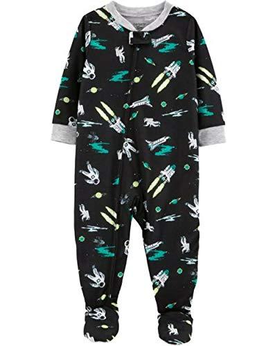 Black Footed Pajamas - Carter's Boys' 1-Piece Footed Pajamas (3t, Black/Space Ship)
